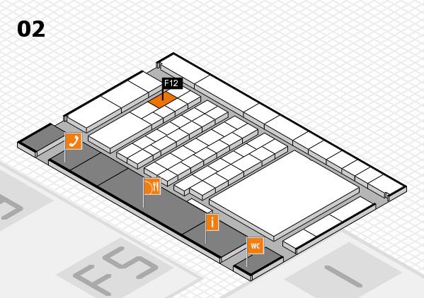 interpack 2017 Hallenplan (Halle 2): Stand F12