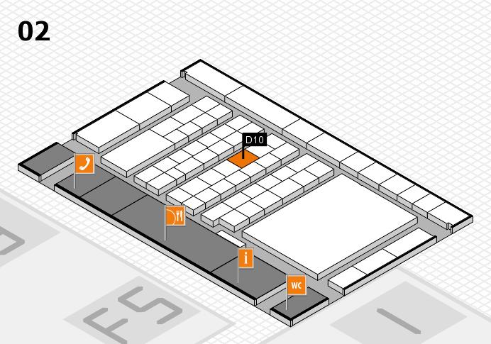 interpack 2017 Hallenplan (Halle 2): Stand D10