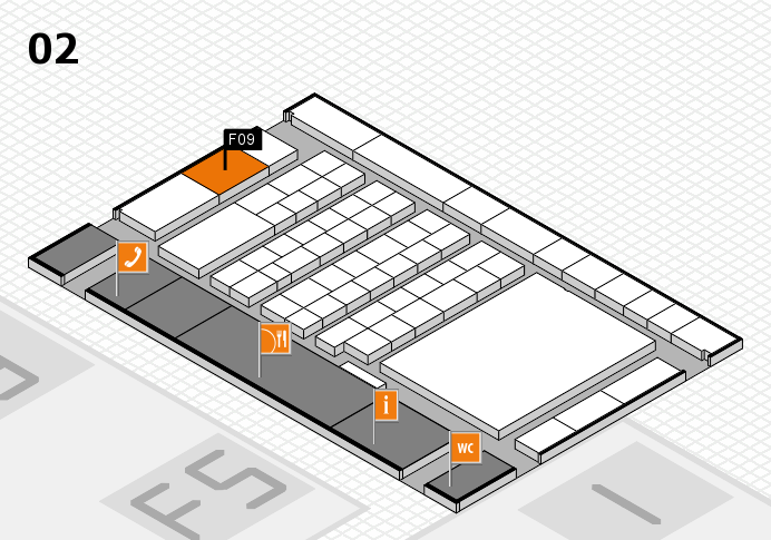 interpack 2017 hall map (Hall 2): stand F09