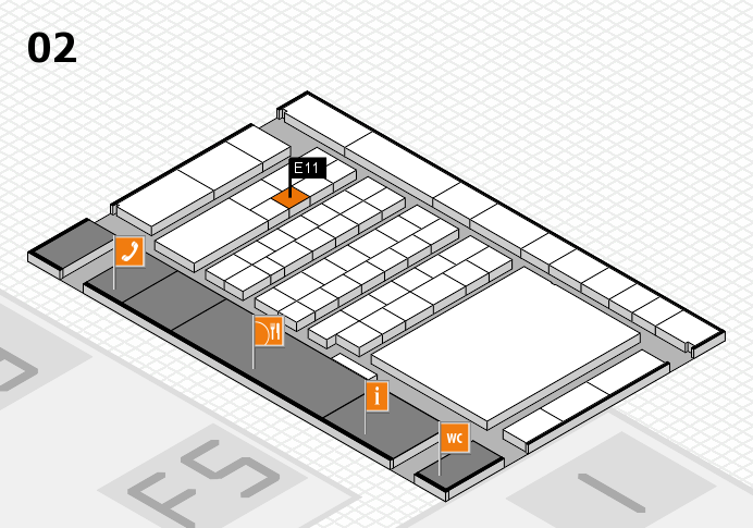 interpack 2017 hall map (Hall 2): stand E11