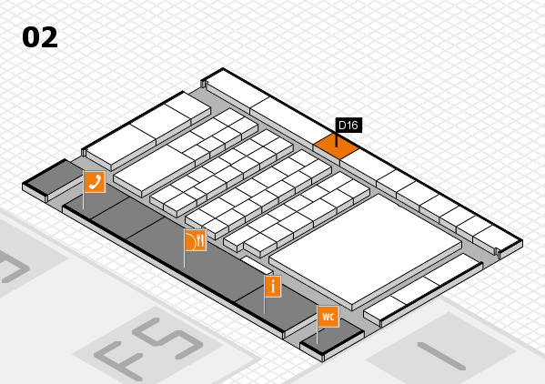 interpack 2017 hall map (Hall 2): stand D16