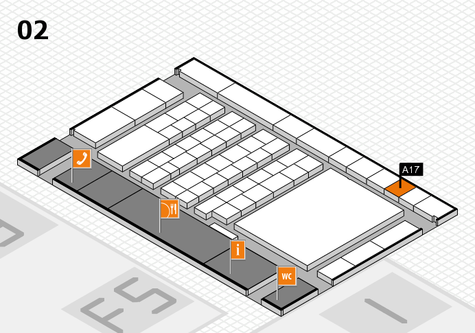interpack 2017 hall map (Hall 2): stand A17