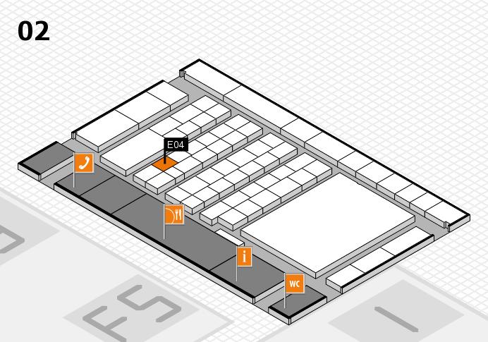 interpack 2017 Hallenplan (Halle 2): Stand E04