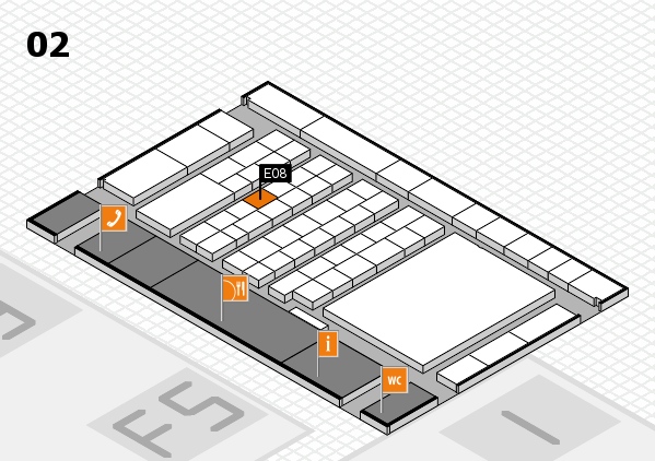 interpack 2017 hall map (Hall 2): stand E08