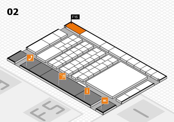 interpack 2017 Hallenplan (Halle 2): Stand F16