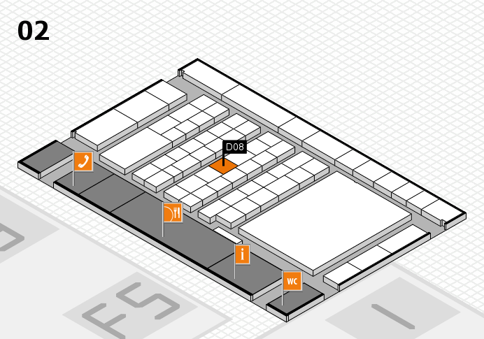 interpack 2017 hall map (Hall 2): stand D08