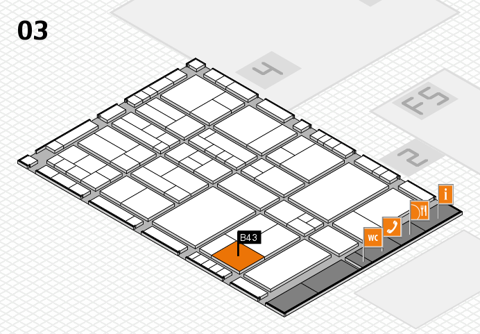 interpack 2017 hall map (Hall 3): stand B43