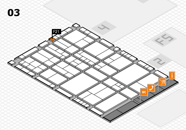interpack 2017 hall map (Hall 3): stand F21