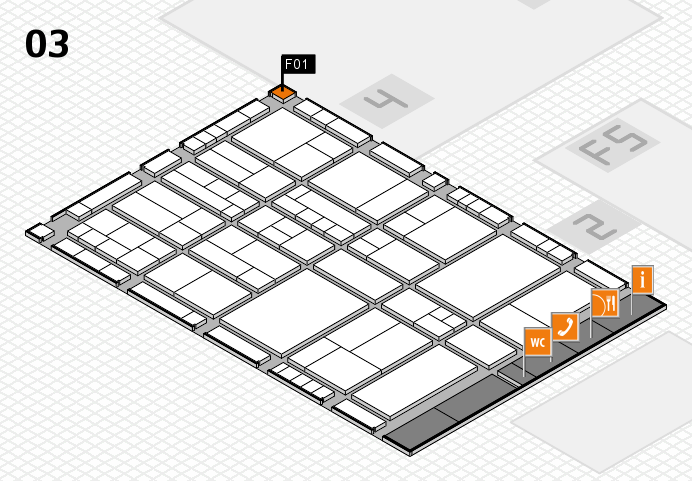 interpack 2017 hall map (Hall 3): stand F01