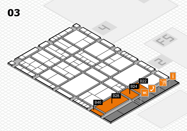 interpack 2017 hall map (Hall 3): stand B22, stand B46