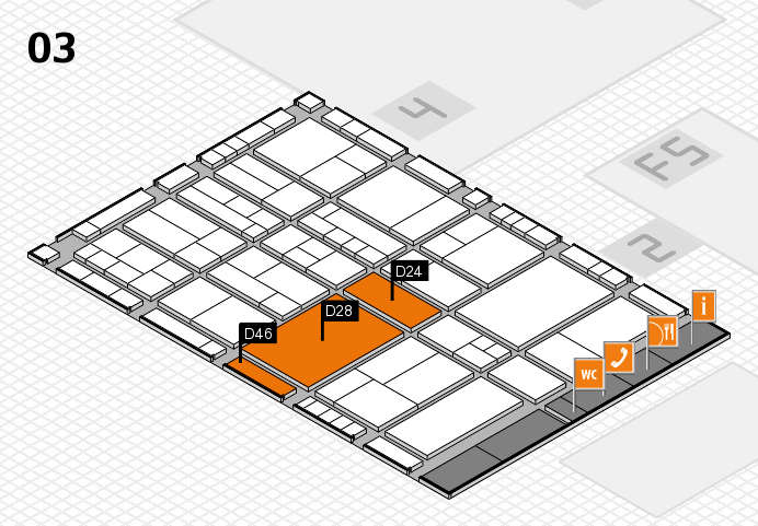 interpack 2017 hall map (Hall 3): stand D24, stand D46