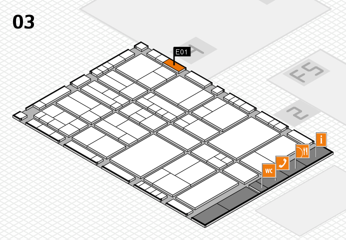 interpack 2017 hall map (Hall 3): stand E01