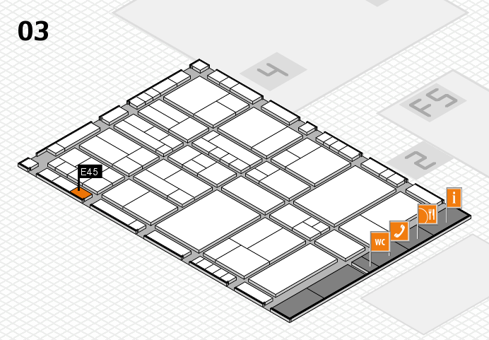 interpack 2017 hall map (Hall 3): stand E45