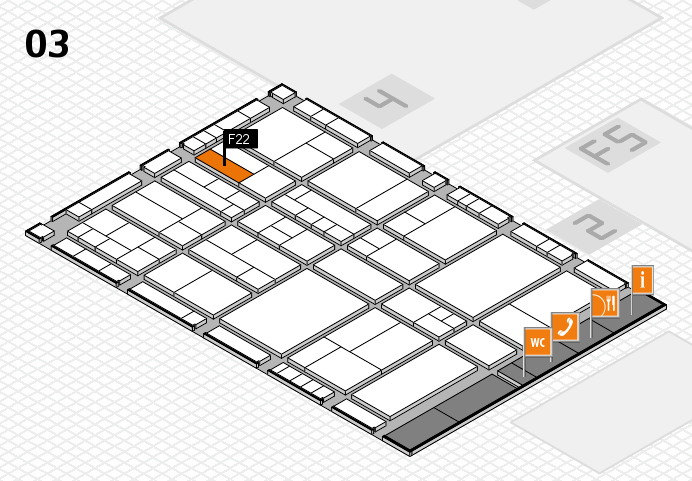 interpack 2017 hall map (Hall 3): stand F22