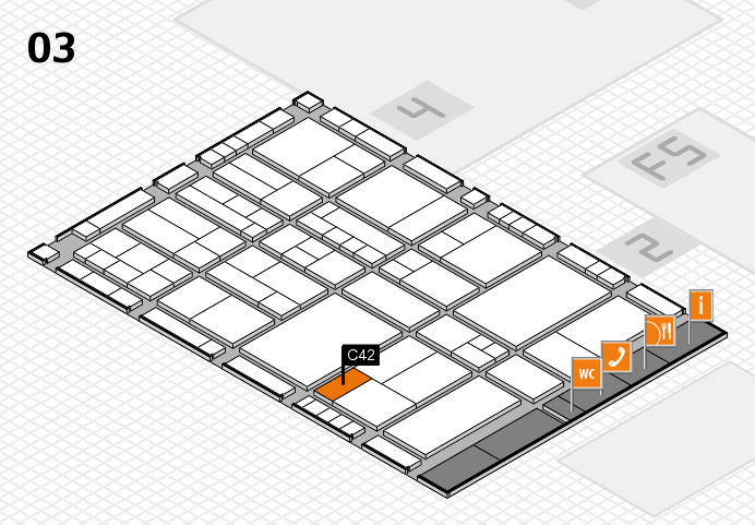 interpack 2017 hall map (Hall 3): stand C42