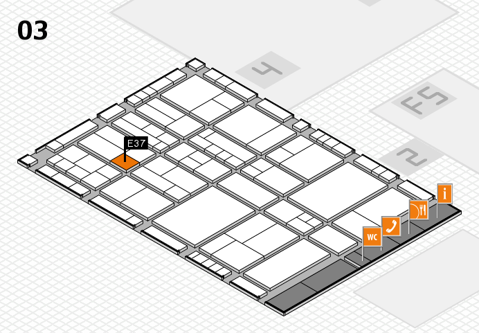 interpack 2017 hall map (Hall 3): stand E37