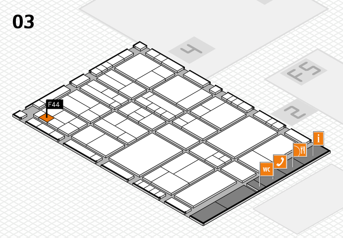 interpack 2017 hall map (Hall 3): stand F44
