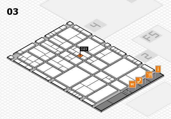 interpack 2017 hall map (Hall 3): stand D23