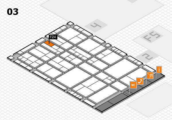 interpack 2017 hall map (Hall 3): stand F24