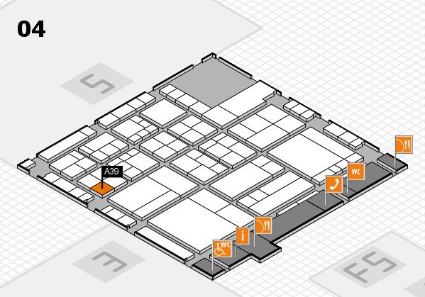 interpack 2017 Hallenplan (Halle 4): Stand A39