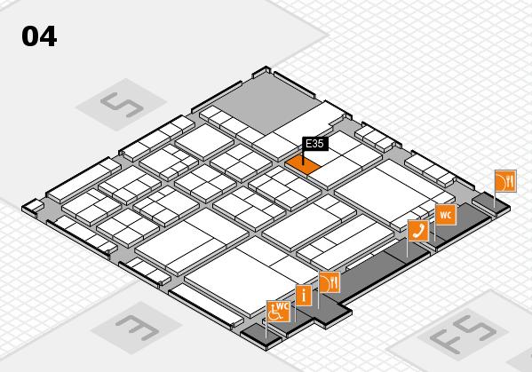 interpack 2017 Hallenplan (Halle 4): Stand E35