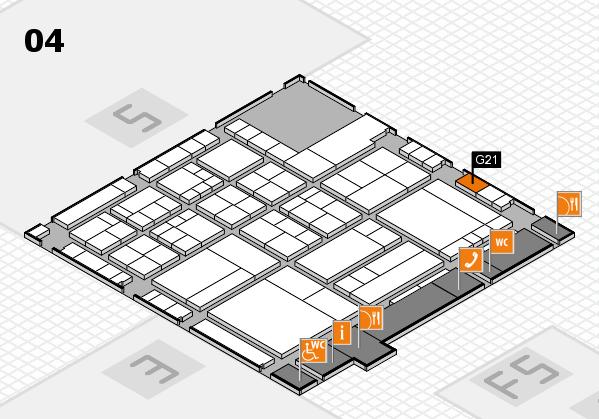 interpack 2017 Hallenplan (Halle 4): Stand G21