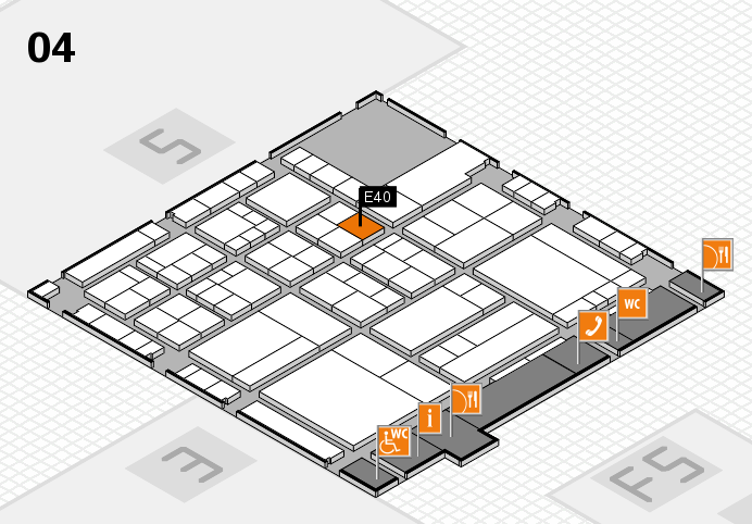 interpack 2017 hall map (Hall 4): stand E40