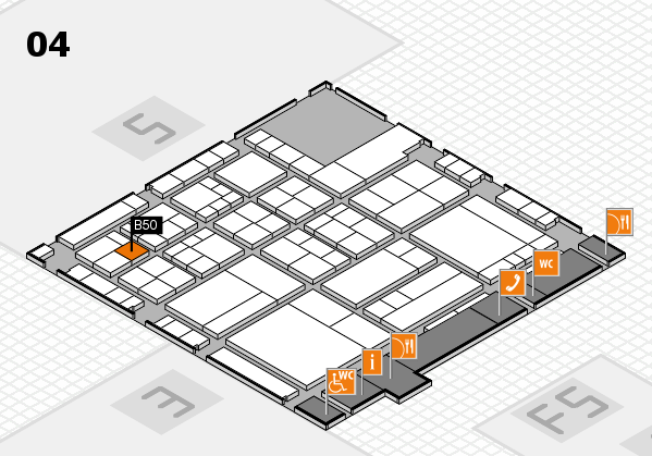 interpack 2017 hall map (Hall 4): stand B50