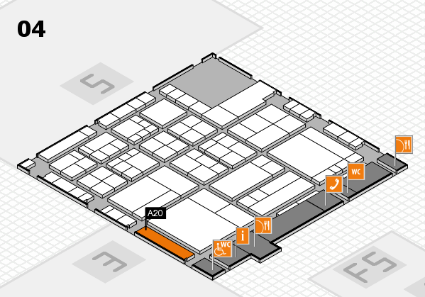 interpack 2017 hall map (Hall 4): stand A20