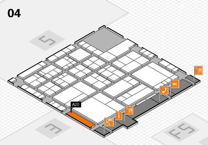 interpack 2017 Hallenplan (Halle 4): Stand A20