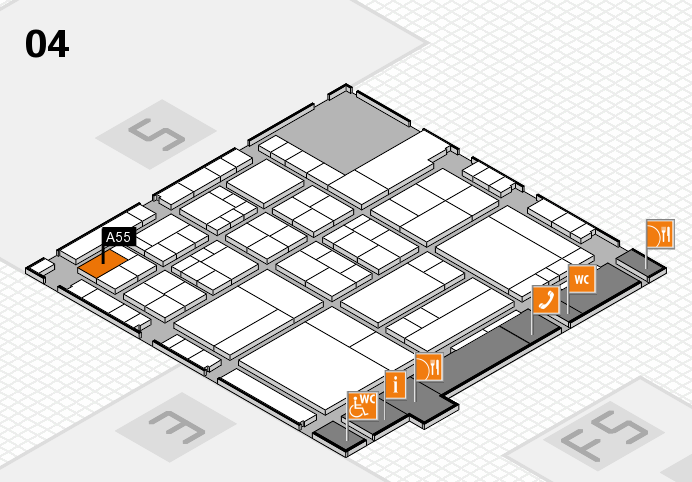 interpack 2017 hall map (Hall 4): stand A55