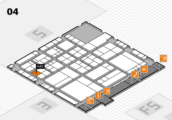 interpack 2017 Hallenplan (Halle 4): Stand A45