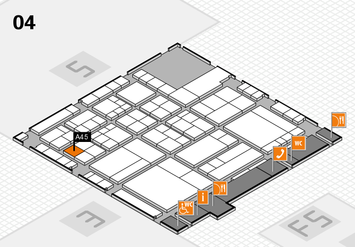 interpack 2017 hall map (Hall 4): stand A45