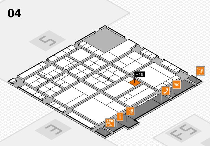 interpack 2017 Hallenplan (Halle 4): Stand E16