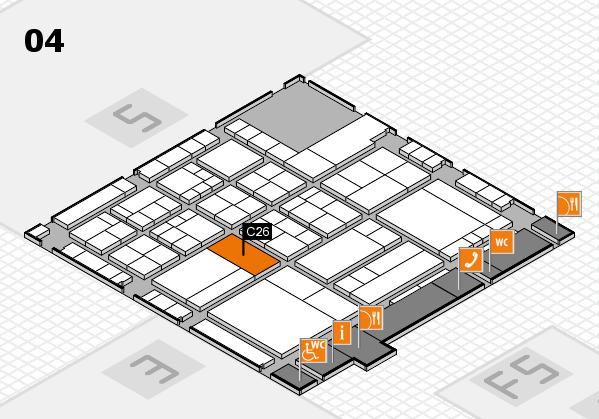 interpack 2017 Hallenplan (Halle 4): Stand C26