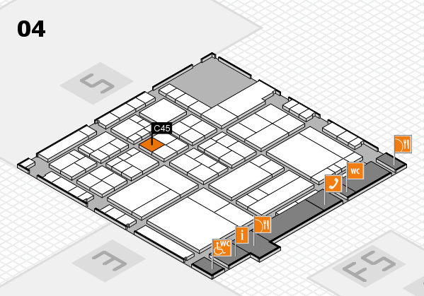 interpack 2017 hall map (Hall 4): stand C45
