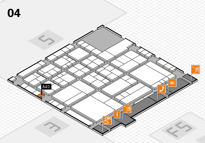 interpack 2017 hall map (Hall 4): stand A40