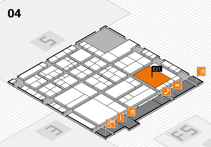 interpack 2017 hall map (Hall 4): stand E21