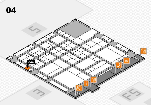interpack 2017 Hallenplan (Halle 4): Stand A44