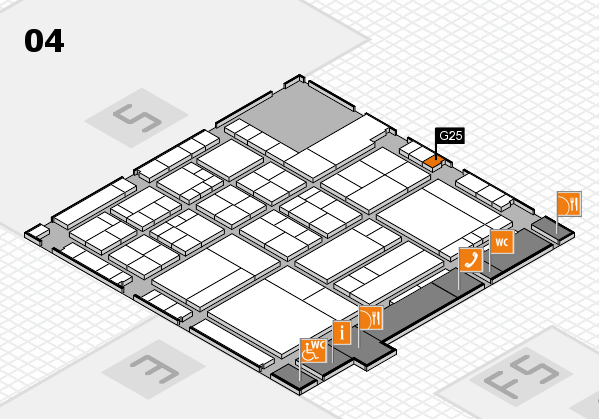 interpack 2017 hall map (Hall 4): stand G25