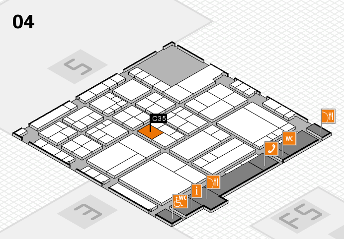 interpack 2017 hall map (Hall 4): stand C35
