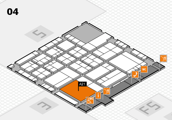 interpack 2017 hall map (Hall 4): stand A21