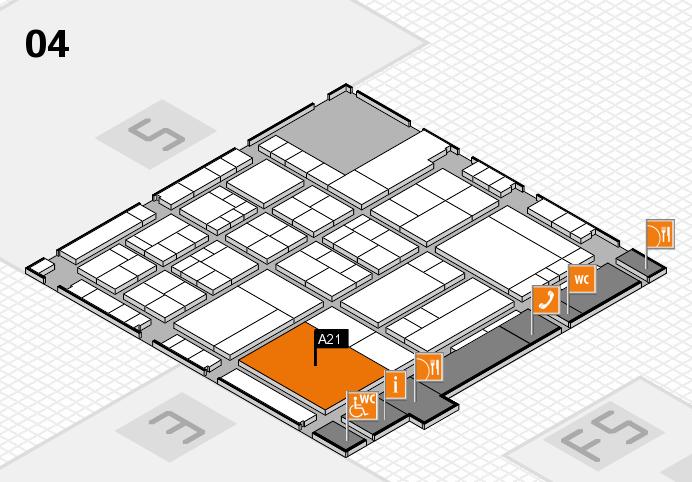 interpack 2017 Hallenplan (Halle 4): Stand A21
