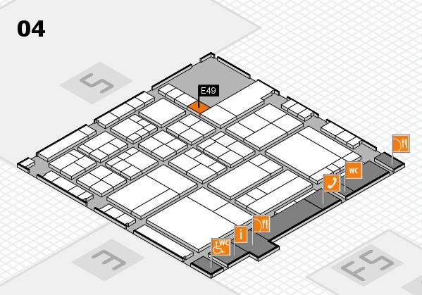 interpack 2017 Hallenplan (Halle 4): Stand E49