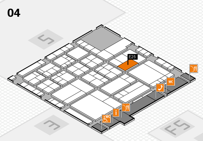 interpack 2017 Hallenplan (Halle 4): Stand E25