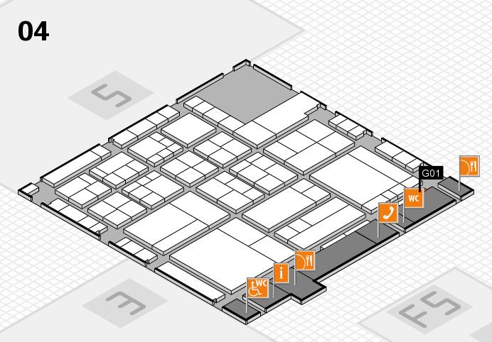 interpack 2017 Hallenplan (Halle 4): Stand G01