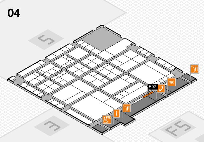 interpack 2017 Hallenplan (Halle 4): Stand E02