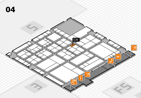 interpack 2017 hall map (Hall 4): stand E36