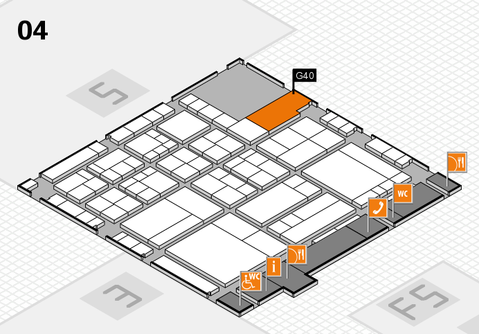 interpack 2017 Hallenplan (Halle 4): Stand G40