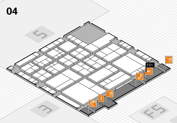 interpack 2017 Hallenplan (Halle 4): Stand F01